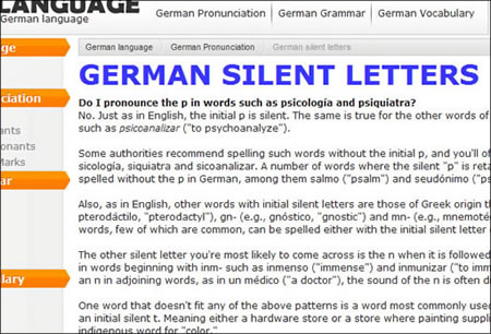 Links to Other Helpful Sites - German for English